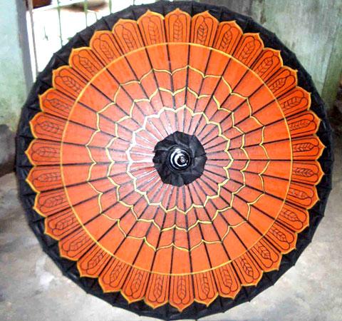Bagan Shwe Design Umbrella From Myanmar Handmade Umbrella