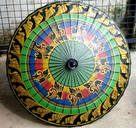 Bagan Shwe Design Umbrella From Myanmar Handmade Umbrella Exporter Myanma Traditional