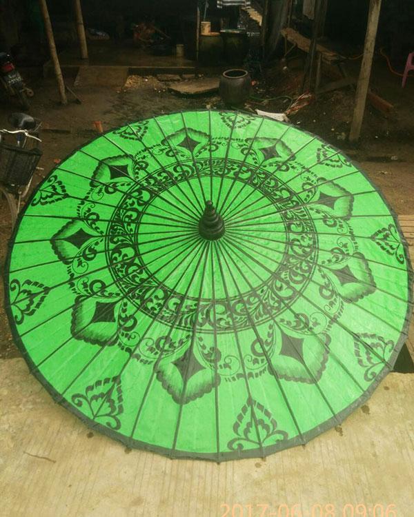 Making Process Of Myanmar Handmade Umbrella Exporter Myanma Traditional Manufacturing